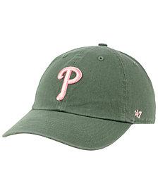 '47 Brand Philadelphia Phillies Moss Pink CLEAN UP Cap