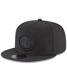 New Era Detroit Pistons Blackout 59FIFTY Fitted Cap