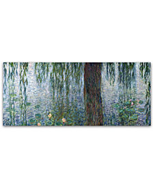 "Claude Monet 'Waterlilies Morning' 20"" x 47"" Canvas Art Print"