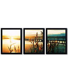 "Beata Czyzowska Young 'Wish You Were Here' 56"" x 22"" Multi-Frame 3-Panel Art Print Set"
