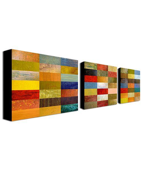 "Trademark Global Michelle Calkins 'Eye Candy' Canvas Art Set - 32"" x 24"""