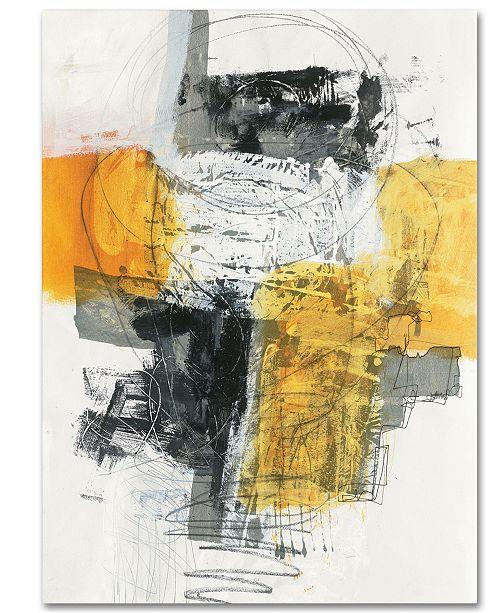 "Trademark Global Jane Davies 'Action I' 35"" x 47"" Canvas Wall Art"