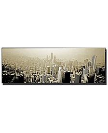 """Preston 'Chicago Skyline' 16"""" x 48"""" Canvas Art Print"""