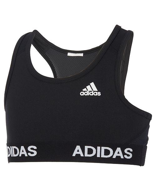 05fb9a69d6a adidas Big Girls Logo-Print Gym Bra - Underwear   Socks - Kids - Macy s