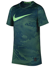 Nike Big Boys Pro Swoosh-Print T-Shirt