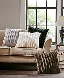 "Duke 20"" Square Faux-Fur Decorative Pillow"
