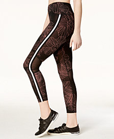 Calvin Klein Performance Border Bloom High-Rise Ankle Leggings