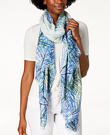 Calvin Klein Tropical Fern Cover-Up & Scarf