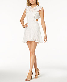 Bardot Kira Cutout Ruffled Fit & Flare Dress