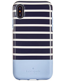 kate spade new york Santa Monica Stripe iPhone X Card Case
