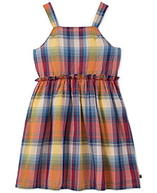 Tommy Hilfiger Big Girls Cotton Plaid Cut Out Dress