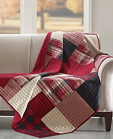Plaid Patchwork Quilted Throw