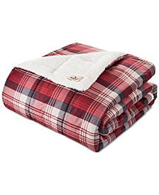 Tasha Plaid Down-Alternative Sherpa Throw