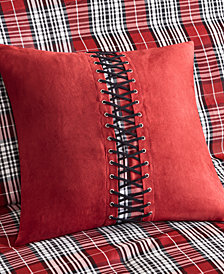 "Woolrich Williamsport Plaid Faux-Suede 18"" Square Decorative Pillow"