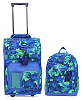 11048ad0760c Crckt Kids 2-Pc. Printed Carry-On Suitcase   Backpack Set