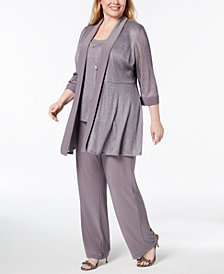 R & M Richards Plus Size 3-Pc. Embellished Pantsuit