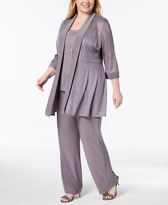 R M Richards Plus Size 3 Pc Embellished Pantsuit Women S Brands