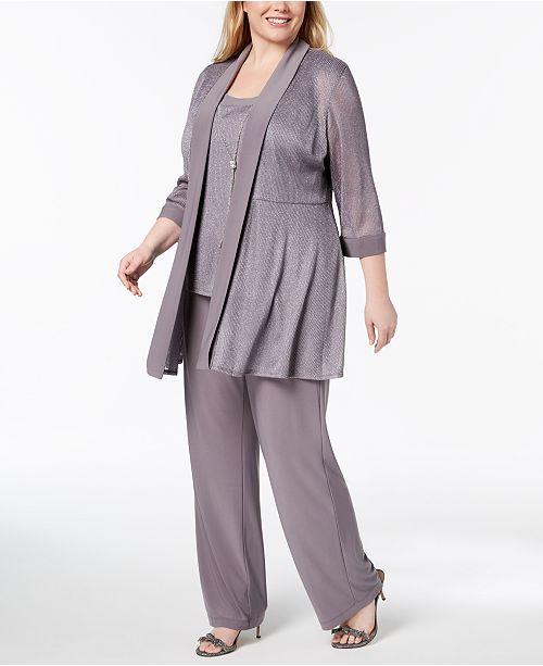 a295d0803c9 R   M Richards Plus Size 3-Pc. Embellished Pantsuit   Reviews ...