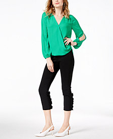 I.N.C. Split-Sleeve Top & Ruffled Capri Pants, Created for Macy's