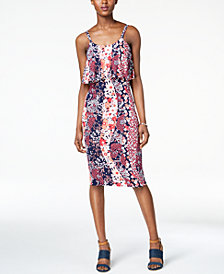 MICHAEL Michael Kors Floral-Print Flounce Dress, in Regular & Petite Sizes