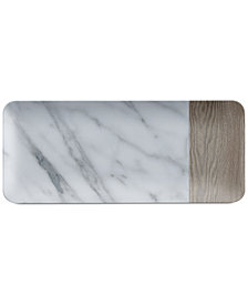 TarHong Mixed-Material Carrara & French Oak Platter