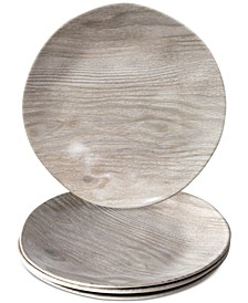 French Oak Melamine Salad Plate, Set of 4