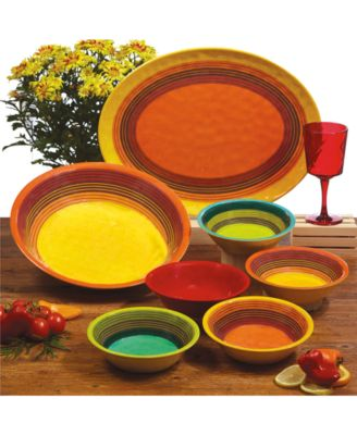 Bring spicy style to dining and entertaining indoors or out with Certified Internationalu0027s Sedona Melamine Dinnerware Collection.  sc 1 st  Macyu0027s & Certified International Sedona Melamine Dinnerware Collection ...