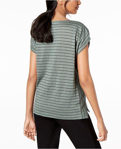 Petite Regular amp; T Black Linen Eileen Fisher White Organic Shirt vwnFXTX0qH