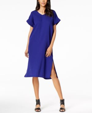 Eileen Fisher Organic Cotton V-Neck Shift Dress 6283675