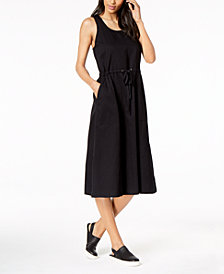 Eileen Fisher Organic Cotton Midi Dress