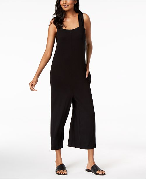 fe652e3e8f05 ... Eileen Fisher Stretch Jersey Cropped Jumpsuit