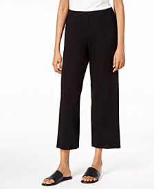 Eileen Fisher Stretch Jersey Cropped Straight-Leg Pants
