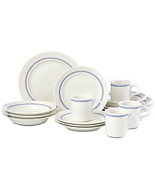 Dansk 16-Pc. Café Blanc Stripe Dinnerware Set