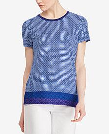 Lauren Ralph Lauren Petite Geo-Print T-Shirt