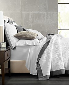 Grey Voile Quilted Coverlet & Sham Collection, Created for Macy's