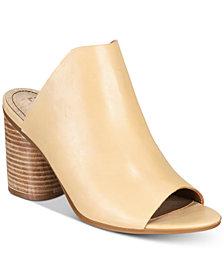 Lucca Lane Hilaire Block-Heel Slip-On Dress Sandals