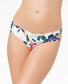 Roxy Urban Waves Printed Cutout Bikini Bottoms