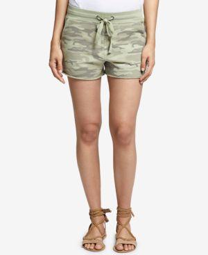 Cotton Camo-Print Shorts, Cadet Camo