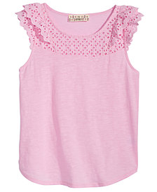 Pink Republic Big Girls Ruffle Sleeve Cotton Top