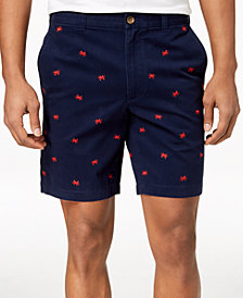 "Club Room Men's Crab Embroidered 9"" Shorts, Created for Macy's"