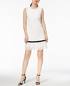Calvin Klein Lace-Trim Sheath Dress