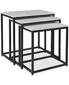 Ponga 3-Pc. Square Nesting Table Set, Quick Ship