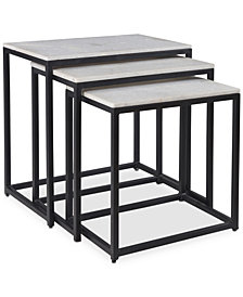 Ponga 3-Pc. Square Nesting Table Set, Quick Ship