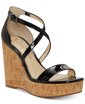 Stassi Platform Wedge Sandals by Jessica Simpson