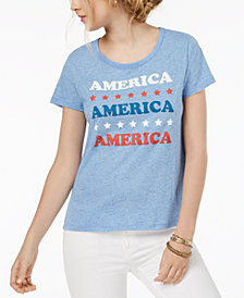 Hybrid Juniors' America Graphic-Print T-Shirt