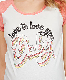 Jessica Simpson Love To Love You Baby Maternity Graphic T-Shirt
