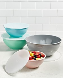 Martha Stewart Collection 8-Pc. Pastel Melamine Bowl Set, Created for Macy's