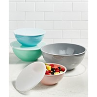 Martha Stewart Collection 8-Pc. Pastel Melamine Bowl Set