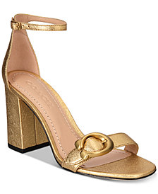 COACH Maya Signature Buckle Dress Sandals