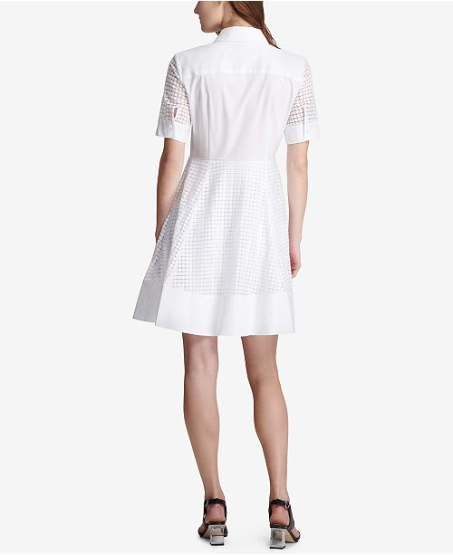 80bab27ba9d ... DKNY Eyelet Fit   Flare Dress